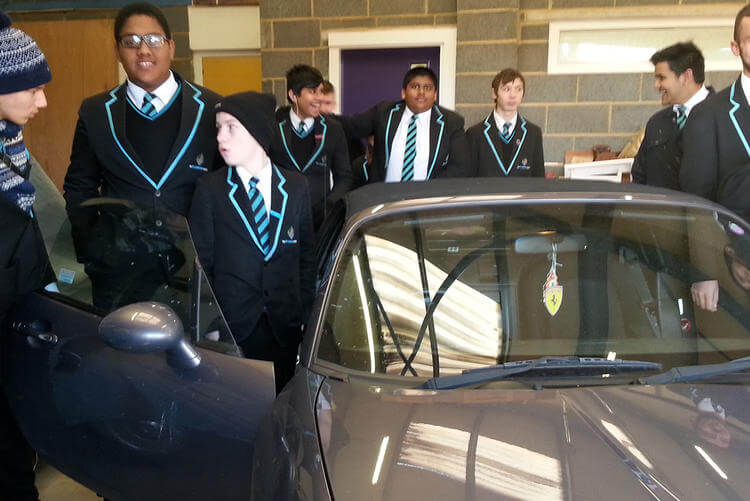 Motor Vehicle students at the Skills Centre